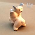 オキュパイドジャパン 相撲をする熊さん 磁器人形