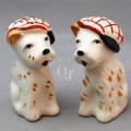 オキュパイドジャパン ベレー帽をかぶるテリア犬  塩こしょう入れ