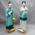 中国人カップル 磁器人形  オキュパイドジャパン