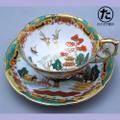 シノワズリのカップ&ソーサー 中部陶器  1960年代の輸出品