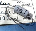 Atlas オイルコンデンサ (600V/0.003μF) [2個組]