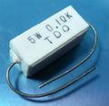東京電音 セメント抵抗 0.1Ω 5W [10個組]
