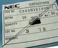 NEC CS02H1E100M-1 タンタルコンデンサ 25V 10μF [4個組]