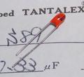 ニチコン S89 TANTALEX タンタルコンデンサ(35V/0.33μF) [10個組]
