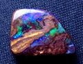 4.00ct グリーン&ブルー系遊色 鉄鉱石に貼りついたレアなオパール オーストラリア産ボルダーオパール