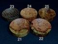 フックソーサー2019ver.(小物用小皿)- 1921●花梨瘤橙白