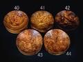 フックソーサー2019ver.(小物用小皿)- 1940●花梨瘤濃橙