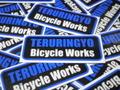 """TERURINGYO Type 3 ステッカー """"ブラック×ブルー"""""""