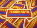 "TERURINGYO Type 3 ステッカー ""レッド×イエロー"""
