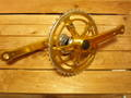 "3PC ALLOY CRANK 170㎜ & BB SET ""Gold"""