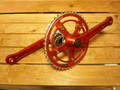 "3PC ALLOY CRANK 170㎜ & BB SET ""Red"""