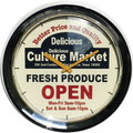 WALL CLOCK~CULTURE MARKET~