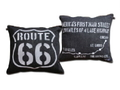 DENIM SQUARE CUSHION~ROUTE66~