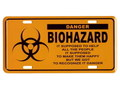 COMMERCIAL PLATE~WARNING BIOHAZARD~