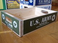 【20%OFF!!】WOOD CRATE BOX~U.S.ARMY~