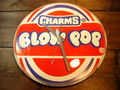 BUBBLE DOME GLASS WALL CLOCK ~BLOW POP~