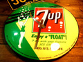 BUBBLE DOME GLASS WALL CLOCK ~7UP~