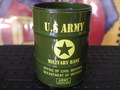 DRUM CAN ASHTRAY~U.S.ARMY~