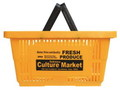 AMERICAN PLASTIC SHOPPING BASKET~YELLOW~