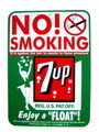 7UP PLASTIC SIGN BOARD~NO SMOKING~
