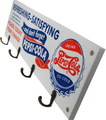PEPSI WOODEN HOOK BOARD~WHITE~