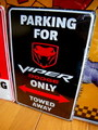 DODGE PARKING SIGN~BLACK~