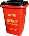 【15%OFF!!】PLASTIC DUSTBIN~RED~