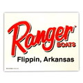 Ranger BOATS STICKER~Flippin, Arkansas~