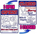ROAD RUNNER & WILE E. COYOTE OPEN/CLOSEDボード