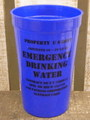 EMERGENCY DRINKING WATER CUP プラカップ アメリカ雑貨 アメリカン雑貨