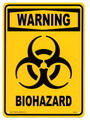 PLASTIC SIGN BOARD~WARNING BIOHAZARD~