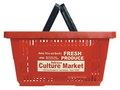 AMERICAN PLASTIC SHOPPING BASKET~RED~