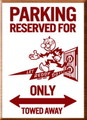 REDDY KILOWATT WOODEN PARKING BOARD