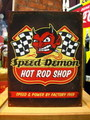 TIN SIGN~Speed demon HOT ROD~