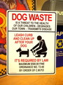 LARGE PLASTIC SIGN BOARD~DOG WASTE~