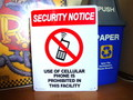 LARGE PLASTIC SIGN BOARD~SECURITY NOTICE~