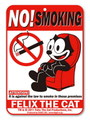 FELIX THE CAT PLASTIC SIGN BOARD~NO SMOKING~