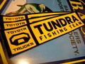 TOYOTA TUNDRA FISHING TEAM BUMPER STICKER