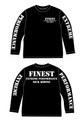 FINEST⑤ 長袖Tシャツ ブラック×ホワイト