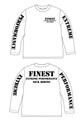 FINEST⑤ 長袖Tシャツ ホワイト×ブラック
