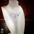 Teardrop Blue Topaz - silver -