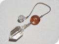 No.518 水晶と桜の雫ペンデュラム
