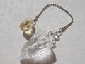 No.499 シトリンと水晶のペンデュラム