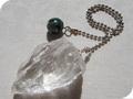 No.465 セラフィナイトと水晶のペンデュラム