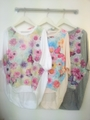 韓国ファッション☆フロント花柄シースルーカットソー