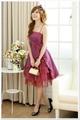 韓国ファッション 裾フリルAラインワンピース(2色)