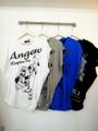 韓国ファッション ストーン付ロゴ&柄T