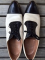 Pair of 1940's FLORSHEIM toe cap spectator shoes