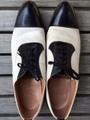 Pair of 1940's FLORSHEIM toe cap spectator shoes