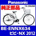 Panasonic BE-ENNX634用【後輪サークル錠+バッテリー錠セット】